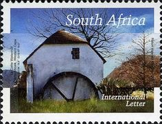 Stamp: La Cotte Watermill, Franschhoek, Western Cape (South Africa) (Mills of South Africa) Mi:ZA Union Of South Africa, Cape Town, Landscape Photography, Westerns, African, Stamps, World, Collections, Money