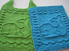 Down Cloverlaine: A Whale of a Cloth by Elaine Fitzpatrick (bib & washcloth pattern)