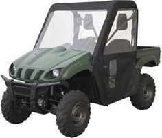 Classic Accessories Kawasaki Mule 4000/4010 Quadgear Extreme Utv Cab Enclosure  This Classic Accessories® cab enclosure was specifically designed to fit your Kawasaki® Mule™ 4000/4010 UTV. Buckles, rip-and-grip closure tabs, and self-adhesive tape combine to provide a secure fit over the roll cage for protection against rain, snow, sun and wind. Provides heavy-duty protection in all weather conditions.Heavy-duty UV-resistant ProtekX™ Extreme fabric with PVC backing for extreme weathe..