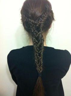 Fishtail braid braid. this is amazing