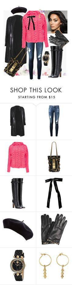"""""""Kimber"""" by gigiwhoot ❤ liked on Polyvore featuring Donna Karan, AG Adriano Goldschmied, Spencer Vladimir, Moschino, Valentino, Chanel, Versace and Mathilde Danglade"""