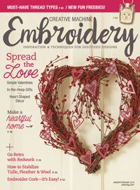 Devoted to all things embroidery, Creative Machine Embroidery imparts machine embroidery enthusiasts of every age and skill level with the tools they need a Embroidery Online, Free Machine Embroidery, Embroidery Designs, Pop Up Blocker, Sewing Magazines, Valentines Design, Spice Things Up, Creative, How To Make