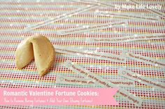 How to put your own messages in fortune cookies WITHOUT breaking the cookie - this is cool!