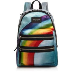 Marc Jacobs Rainbow Nylon Backpack ($420) ❤ liked on Polyvore featuring bags, backpacks, marc jacobs bags, nylon rucksack, rainbow bag, blue backpack and rucksack bags