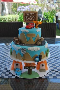 Disney Cars Birthday Cake perfect for the little drifter cars.. (latest obsession)