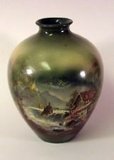 """Antique Royal Bayreuth COTTAGE by WATERFALL Vase 8""""+"""