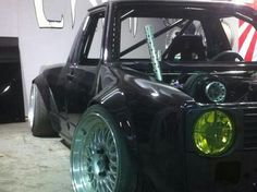 vw caddy mk1 slammed - exhaust