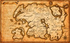 Map Of Tamriel From Elder Scrolls Skyrim Movie Silk Art Poster Prints - 2 The Elder Scrolls, Elder Scrolls Races, Scrolls Game, Elder Scrolls Skyrim, Elder Scrolls Online, Elder Scrolls Dwemer, Oblivion, Skyrim Map, Playstation