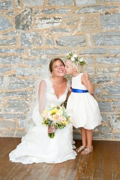 flower girl dress and crown from walkers overlook wedding by Paired Images