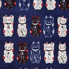 Maneki neko pattern