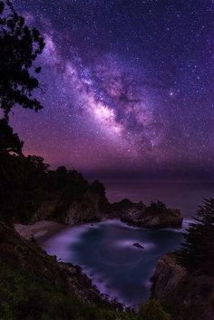 Milky Way by Ryan Engstrom on BigSur, California Beautiful Sky, Beautiful Landscapes, Beautiful World, Beautiful Images, Beautiful Things, Nature Pictures, Cool Pictures, Landscape Photography, Nature Photography