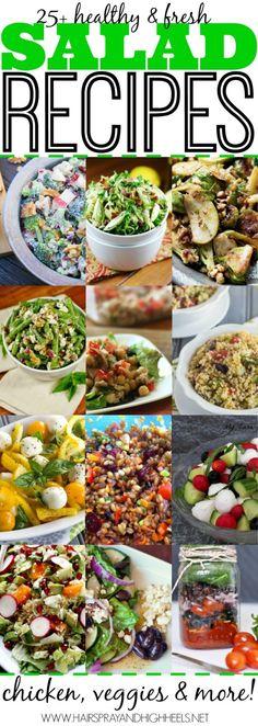 25  Salad Recipes  via www.hairsprayandhighheels.com by lindsay0