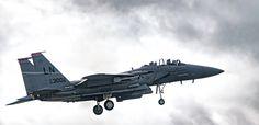 F15 LN AF 00-3002 coming in to land. - F15 LN AF 00-3002 coming in to land. Sony A99ii, Tamron 150-600mm @ 330mm, iso 320, F5.6.