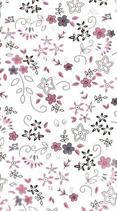 Flower Background Wallpaper, Cute Wallpaper Backgrounds, Pretty Wallpapers, Flower Backgrounds, Pink Wallpaper, Screen Wallpaper, Cartoon Wallpaper, Mobile Wallpaper, Pattern Wallpaper