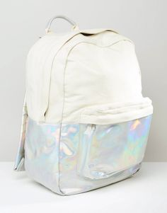Image 2 ofASOS Hologram Canvas Mix Backpack