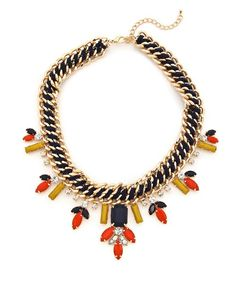Forever Festive Necklace ... love this site ♥              https://shoplately.com/product/128882/forever_festive_necklace_navy_and_orange