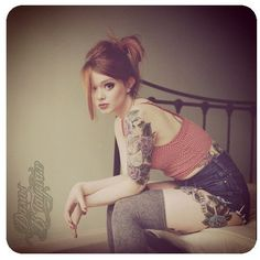 Love the style, the girl, the hair & the tatoo! In fact, everything!