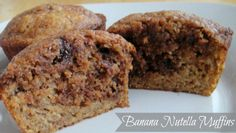 Banana Nutella Muffins 178 calories and 5 weight watchers points plus