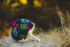 Handmade crocheted wedding bouquet