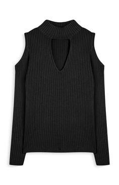 Primark - Camisola com ombros abertos preto