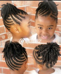 Little Girls Natural Hairstyles, Toddler Braided Hairstyles, Little Girl Braid Hairstyles, Kids Curly Hairstyles, Baby Girl Hairstyles, Twist Hairstyles, Halloween Hairstyles, Hairstyle Short, School Hairstyles