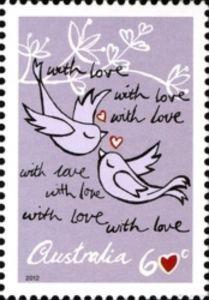 Love Birds Postcard Stamps Stamp Postage Stamps
