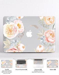 Pink Mac Air 11 Case Valentine HP Laptop Decals Floral MacBook Keyboard Cover MacBook Pro Case 2016 Flowers MacBook Air 13 inch Skin DR061