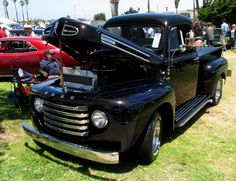 A Black Beauty of A Ride - 1950 Ford F-1 Pickup Truck | Flickr - Photo Sharing!
