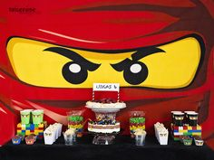 Ninjago sweet table inspiration on my blog =)   Dessert table ninjago party   Bursdag Ninjago-style! =)