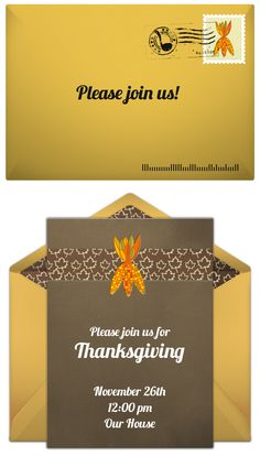 Paper invites are too formal, and emails are too casual. Get it just right with online invitations from Punchbowl. We've got everything you need for your Thanksgiving party.  http://www.punchbowl.com/online-invitations/category/25/?utm_source=Pinterest&utm_medium=18.12P