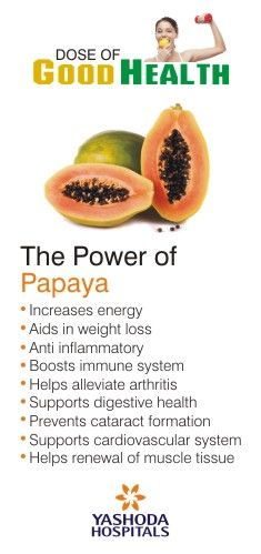 Know the facts that help to maintain good health. The power of Papaya.