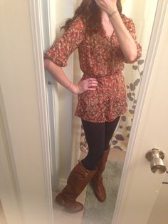 Fall tunic leggings and boots