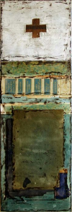 Ribbons of Grace series. Encaustic and collage by Crystal Neubauer crystalneubauer.com