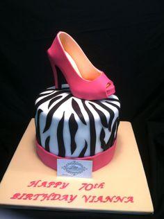 Fondant Shoe Pink Suede Stiletto Cake Topper