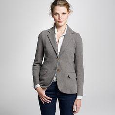 Cashmere + Herringbone.  MWAH!    http://www.jcrew.com/womens_category/blazersandvests/noveltyblazers/PRDOVR~35100/35100.jsp