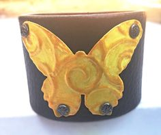 Hey, I found this really awesome Etsy listing at https://www.etsy.com/listing/470597620/yellow-butterfly-bracelet-festival