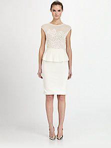 Giambattista Valli - Lace Peplum Dress