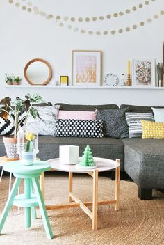 happy modern living room
