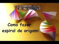 COMO FAZER ESPIRAL DE ORIGAMI 1 - YouTube