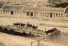 1890 Az Attila úton a vár Krisztinavárosi oldali támfalának építése, lóvontatású úthengerek Old Pictures, Old Photos, Vintage Photos, Budapest Hungary, Awesome Things, Historical Photos, Tao, Landscapes, Times