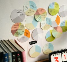 Pie chart sticky notes ~ Design studio MMMG