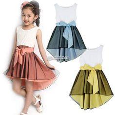 Bebe-filles-robe-de-princesse-Tutu-Jupe-vetements-Kid-baby-girl-dress-robe-dete