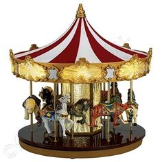 Mr Christmas Celebration Carousel *** You can find out more details at the link of the image. Christmas Music Box, Mr Christmas, Christmas Shopping, Christmas Stuff, Budget, Homemade Toys, Carousel Horses, Animation, Gold Labels