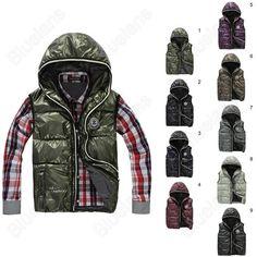 Discount China china wholesale Mens Winter Red Hoodie Warm Glossy Fashion Vest waistcoat Jacket Coat Hood [31277] - US$20.61 : DealsChic