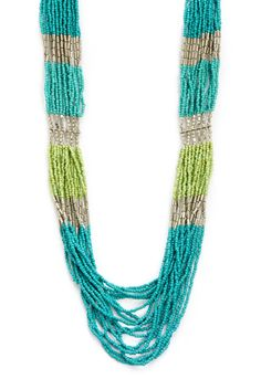 Necklace Long Seed Bead Cool - CJ Banks