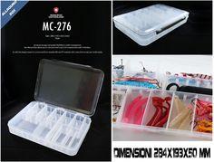 Tackle Box Scatola Porta Accessori Moncross Trasp 284x193x50mm - EUR 17.90
