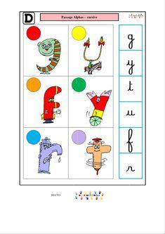 Logico des alphas : passage alphas – cursive | MC en maternelle English Vocabulary, Grammar, Teaching, Education, School, Amelia, Nursery, Deutsch, Day Care