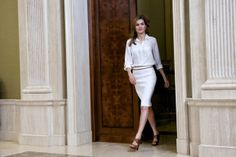 Princess Letizia attended several audiences at Zarzuela Palace  in Madrid.