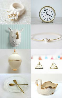Five to Four. In White and Gold. by Shani Mifano on Etsy--Pinned with TreasuryPin.com