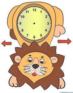 Relojes para aprender la hora-3-color- Teaching Nouns, Teaching Spanish, Teaching Kids, Telling Time Games, Math Clock, Classroom Schedule, Math Crafts, Books For Boys, Pre School